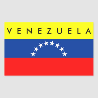 venezuela country flag nation symbol name text rectangular sticker