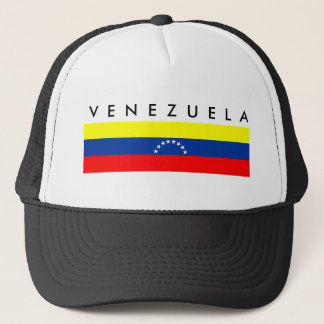 venezuela country flag nation symbol name text trucker hat