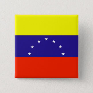 Venezuela Flag 15 Cm Square Badge