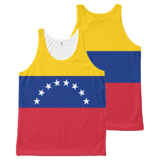 Venezuela Flag All-Over Print Tank Top