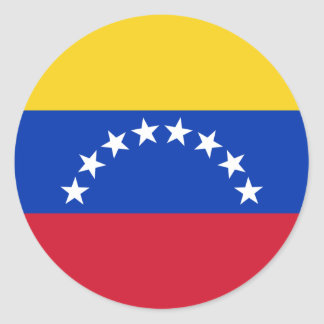 Venezuela flag classic round sticker