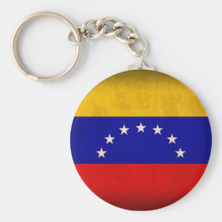 Venezuela Flag Distressed Keychain