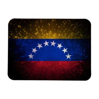 Venezuela Flag Firework Rectangular Magnet