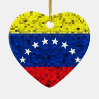 Venezuela Flag glitter ornament