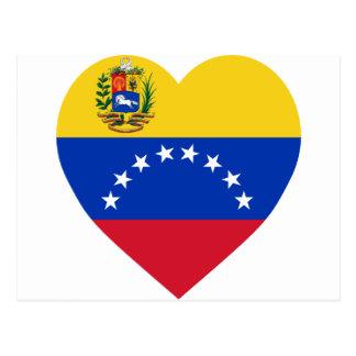 Venezuela Flag Heart Postcard