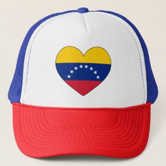 Venezuela Flag Heart Trucker Hat