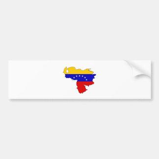 Venezuela Flag Map full size Bumper Sticker
