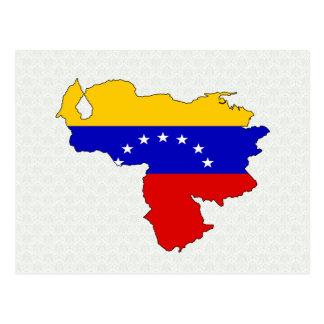 Venezuela Flag Map full size Postcard