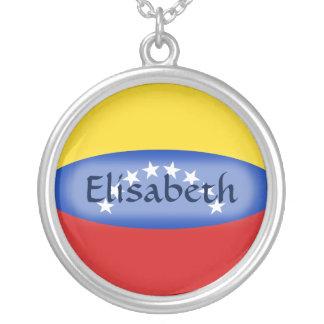 Venezuela Flag + Name Necklace