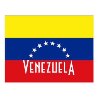 Venezuela flag post cards