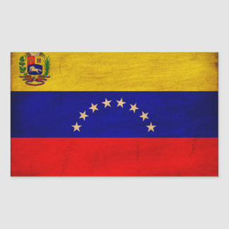Venezuela Flag Rectangular Sticker