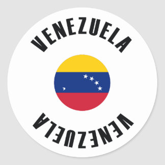 Venezuela Flag Simple Classic Round Sticker