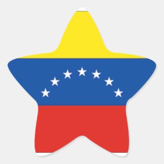 Venezuela flag star stickers
