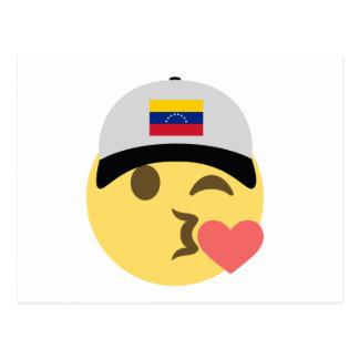 Venezuela Hat Kiss Emoji Postcard