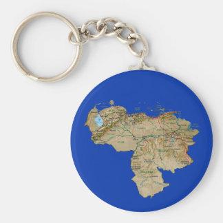 Venezuela Map Keychain