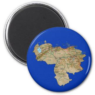 Venezuela Map Magnet