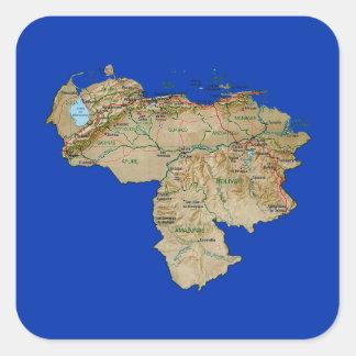 Venezuela Map Sticker