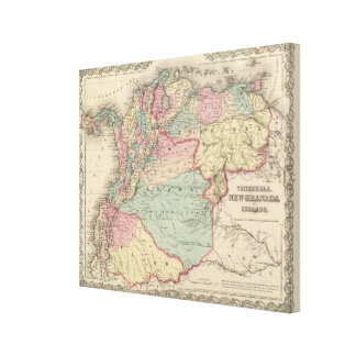 Venezuela, New Granada Colombia and Ecuador Canvas Print