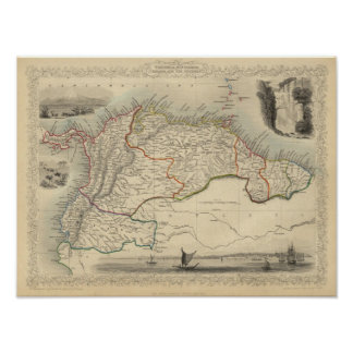 Venezuela, New Granada, Equador, and the Guayanas Poster