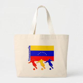 Venezuela - Soccer Players Large Tote Bag
