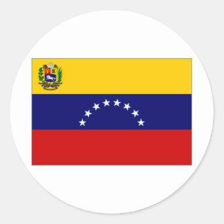 Venezuela State Flag Classic Round Sticker