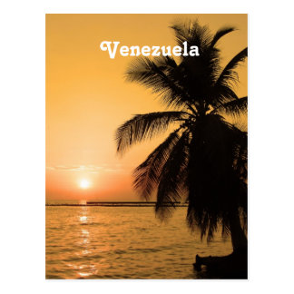 Venezuela Sunset Postcard