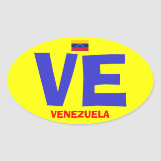 Venezuela VE Euro Style Oval Sticker