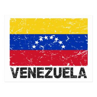 Venezuela Vintage Flag Postcard