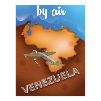 venezuela vintage travel poster postcard