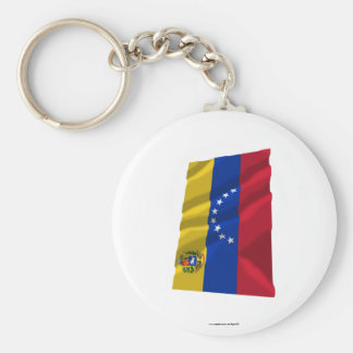 Venezuela Waving Flag Key Ring