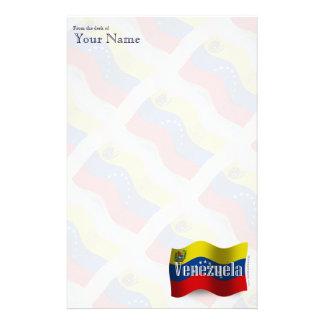 Venezuela Waving Flag Custom Stationery