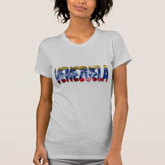 Venezuela Word With Flag Texture Women't T-Shirt