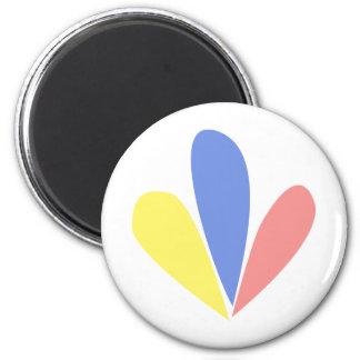 Venezuelan Flag Petals Magnet