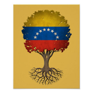 Venezuelan Flag Tree of Life Customizable Poster