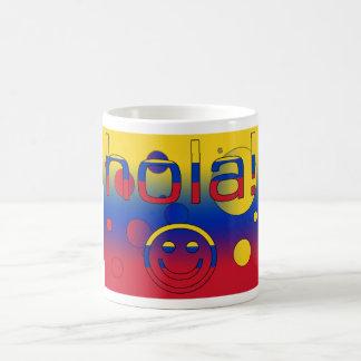 Venezuelan Gifts : Hello / Hola + Smiley Face Basic White Mug