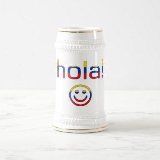 Venezuelan Gifts : Hello / Hola + Smiley Face Beer Steins