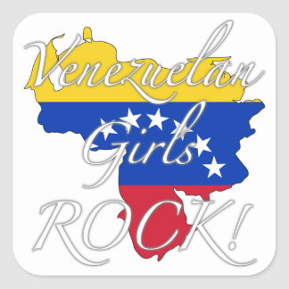 Venezuelan Girls Rock! Square Sticker