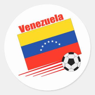 Venezuelan Soccer Team Classic Round Sticker