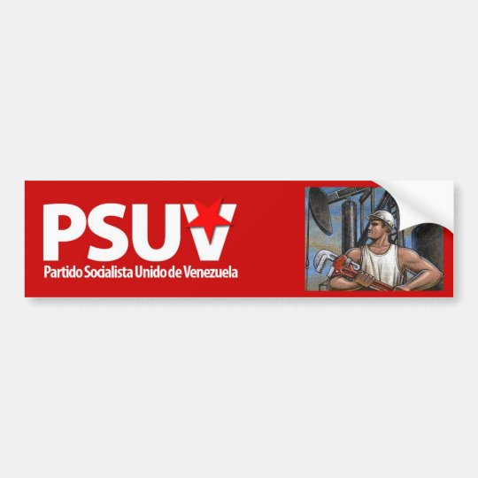 venezuelan socialist party hugo chavez bumper sticker