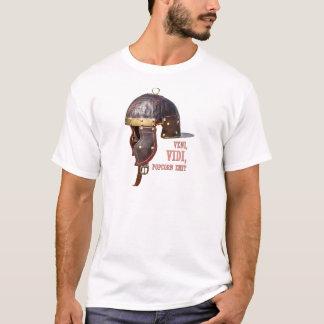 Veni, Vidi, Popcorn emit Ancient Roman helmet T-Shirt