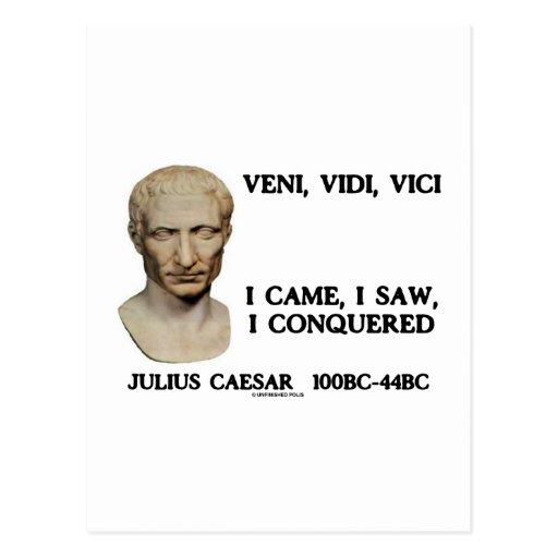 Veni, Vidi, Vici - I Came, I Saw, I Conquered Post Cards