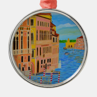 Venice3.JPG Silver-Colored Round Decoration