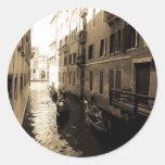 Venice 3 classic round sticker