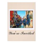 Venice Alley with Love Quote Custom Invitation
