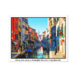 Venice Alley with Love Quote Gallery Wrap Canvas