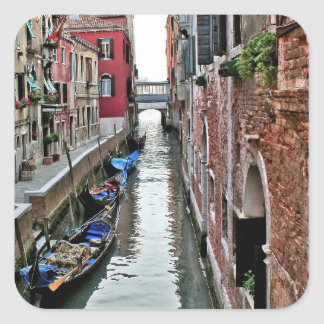Venice Alleyway Square Sticker