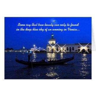 Venice Anniversary Card