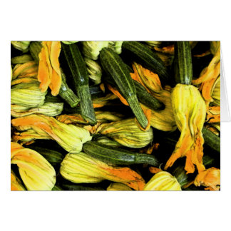 Venice At Home Card - Zucchini Flowers