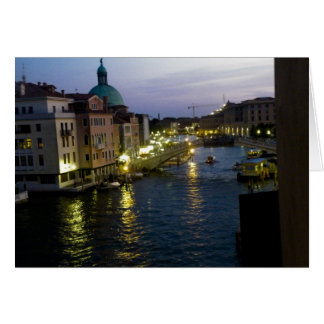 Venice at night card
