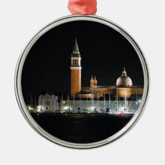 Venice at night christmas ornament